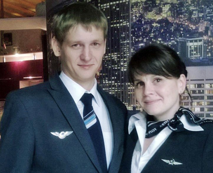 Бортпроводники Станислав Свиридов и Анна Свиридова