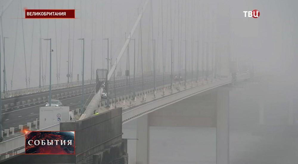 Густой туман в Великобритании