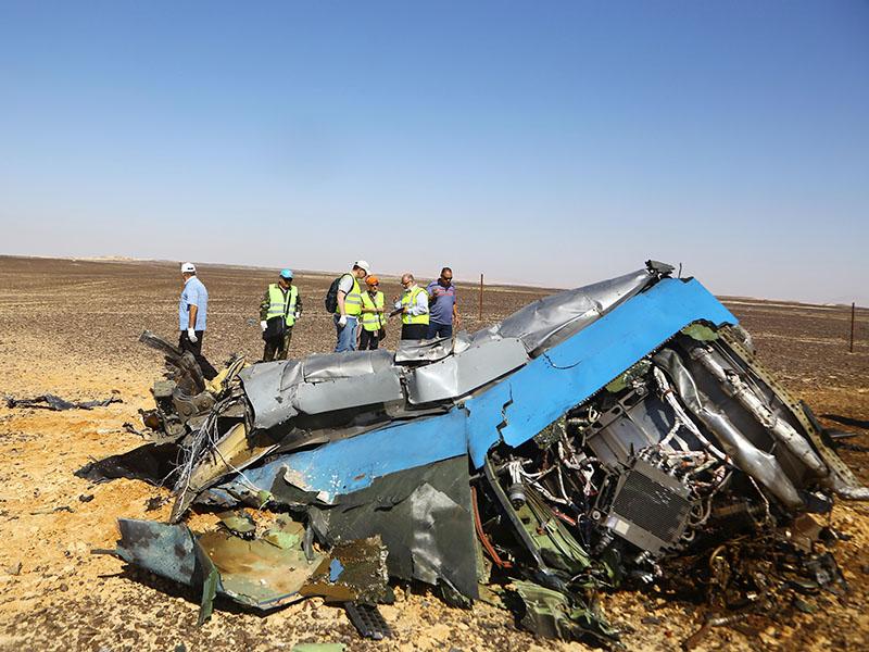 Обломки самолёта A321 на Синайском полуострове