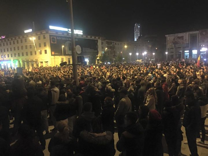 Массовые протесты в Румынии