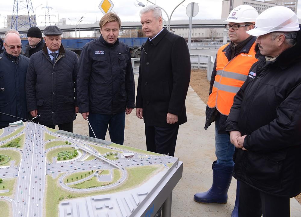 Сергей Собянин на открытии движения по новой эстакаде