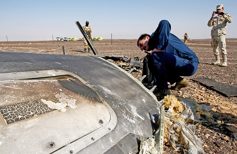 """Обломки самолета Airbus A321 авиакомпании """"Когалымавиа"""""""