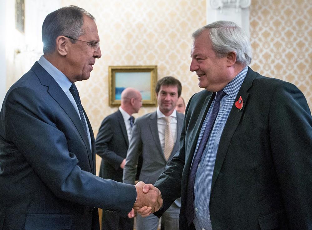 Глава МИД России Сергей Лавров и замгенсека ООН по гуманитарным вопросам Стивен О'Брайен