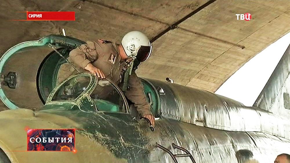Пилот истребителя МиГ-21 сирийской армии