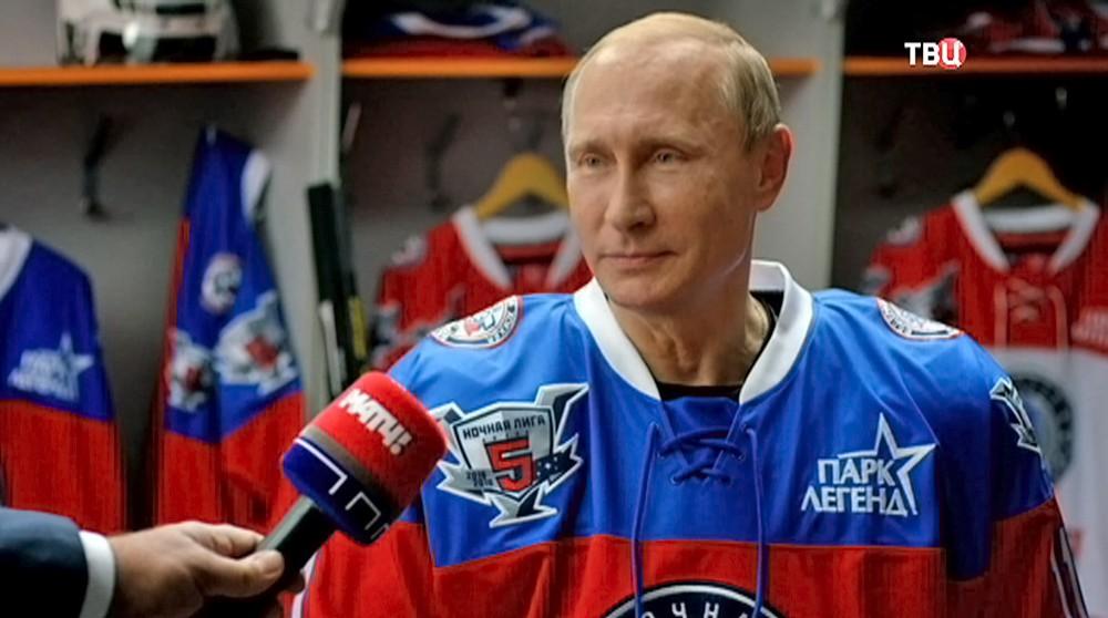 """Владимир Путин дает интервью спортивному телеканалу """"Матч ТВ"""""""