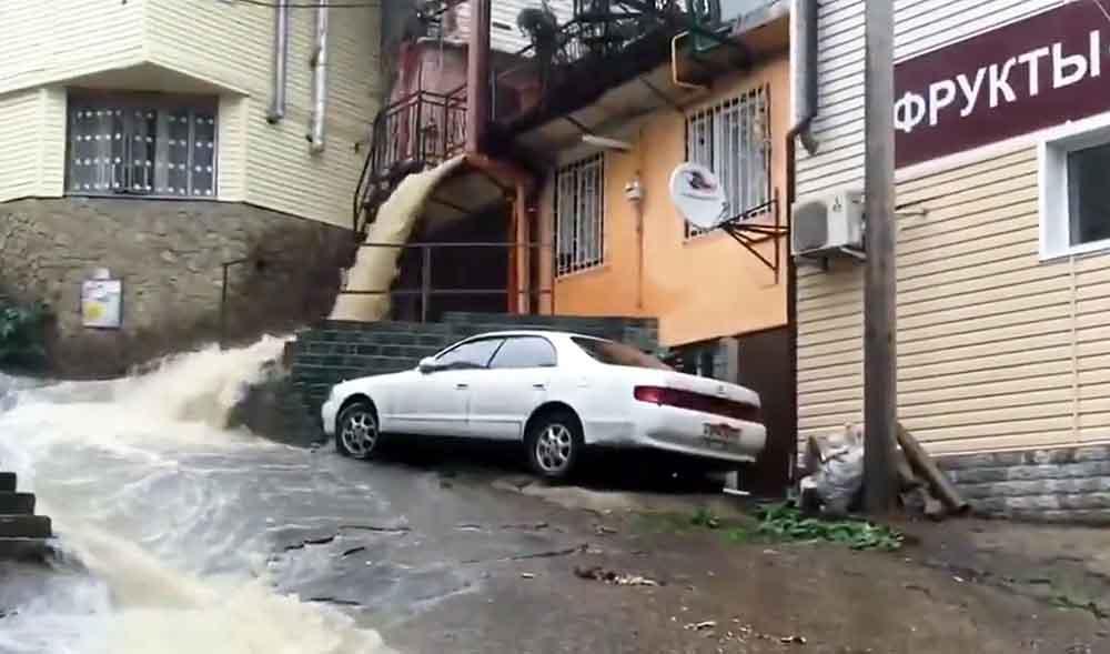 Последствия ливней в Краснодарском крае
