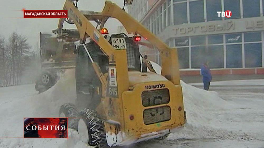 Снег в Магаданской области