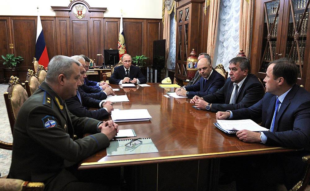 Совещание по вопросу финансового обеспечения космической деятельности России на период до 2025 года