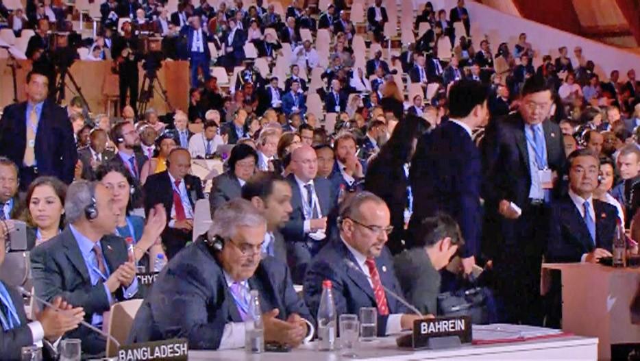 Участники Климатического саммита в Париже