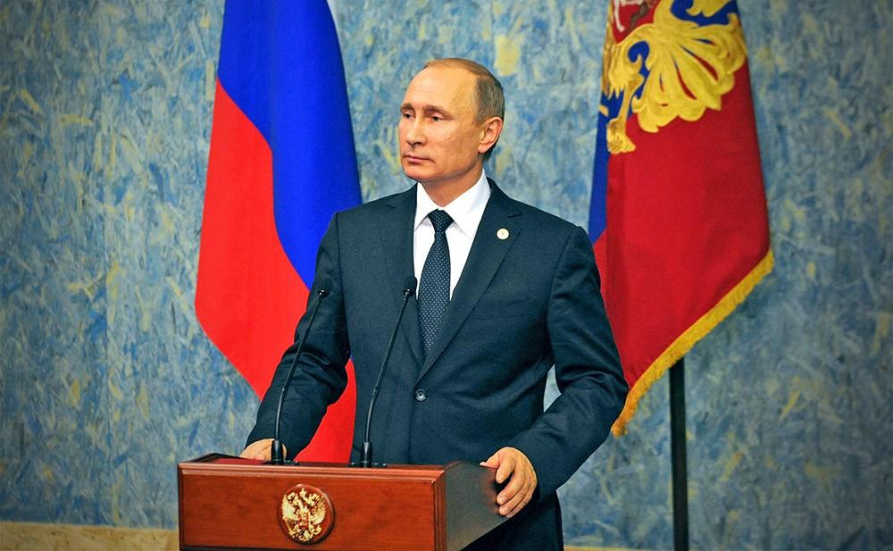 Владимир Путин на пресс-конференции по итогам конференции по проблемам климатических изменений