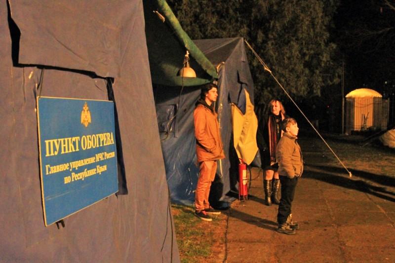 Городок МЧС для помощи жителям Крыма во время отключений электричества