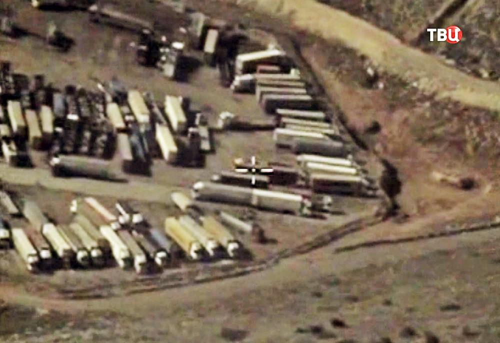 Грузовики для транспортировки нефти в Турцию с территорий Сирии и Ирака
