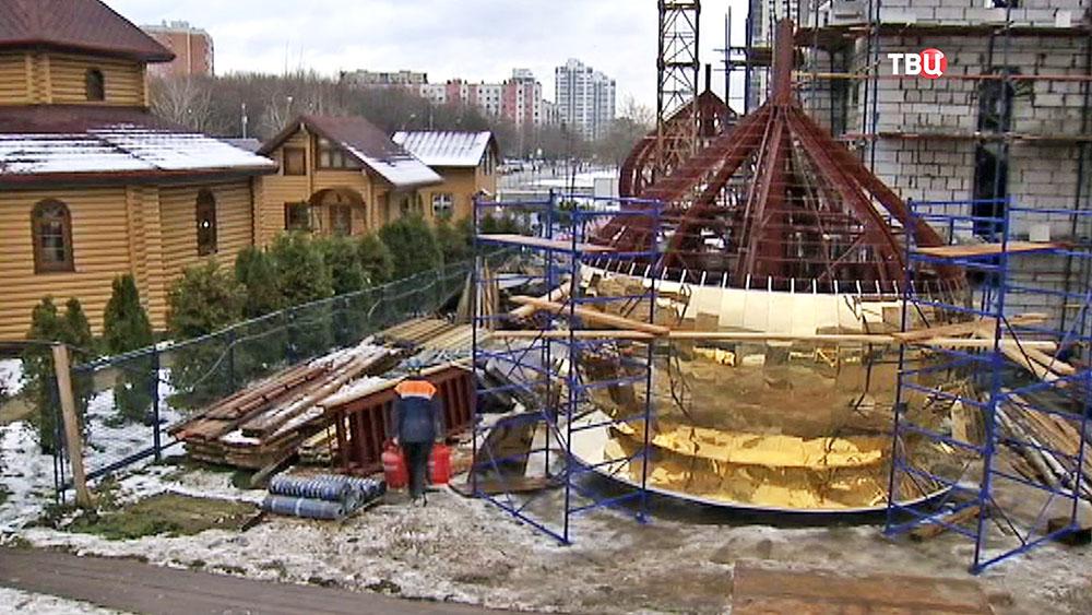 Строительство церкви в честь пророка Божия Илии