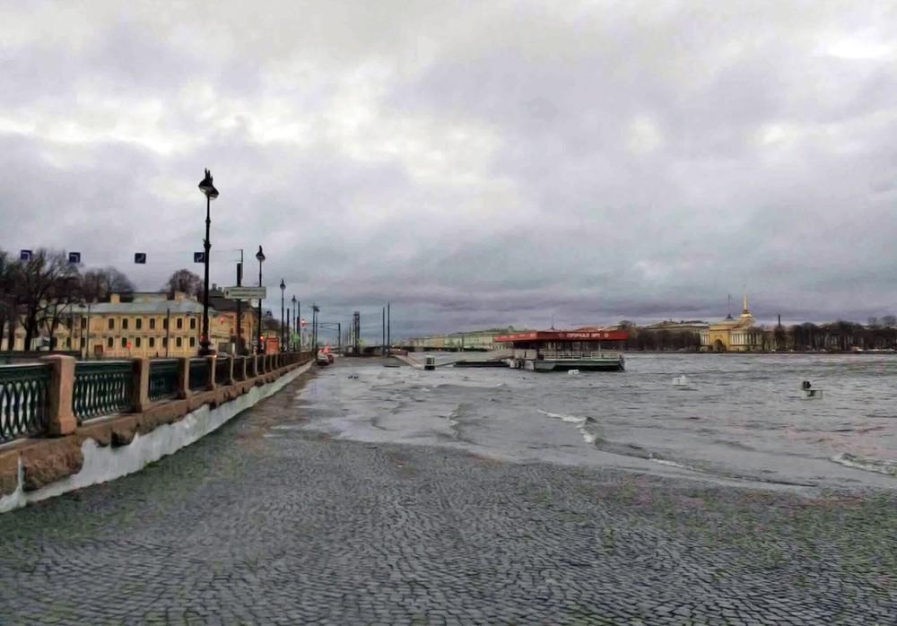 Повышения уровня реки Невы в Санкт-Петербурге