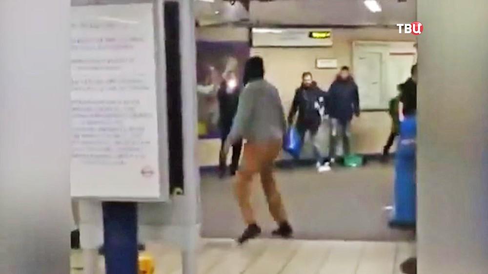 Нападение террориста в лондонском метро