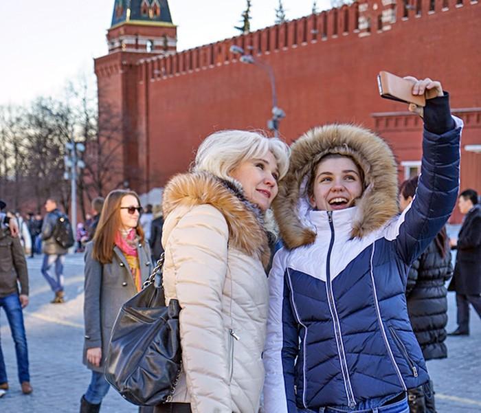 Cелфи на Красной площади