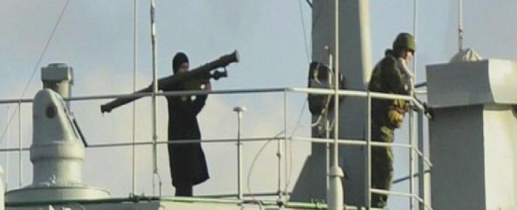 Фотография с якобы российским моряком с ПЗРК
