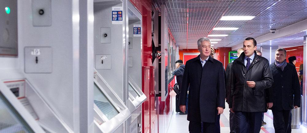 Сергей Собянин на открытии нового пассажирского терминала «Аэроэкспресса»