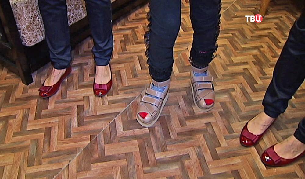 Примерка обуви для детей с ДЦП