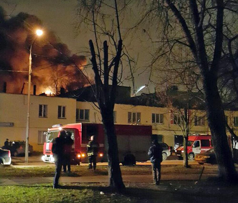 Пожар на территории ТМЗ
