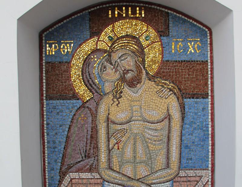 Мозаика в Киево-Печерской лавре