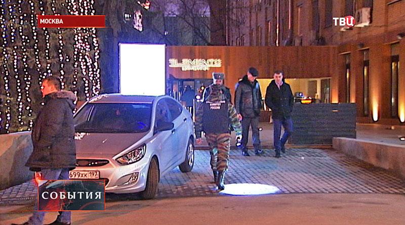 Место стрельбы в Москве