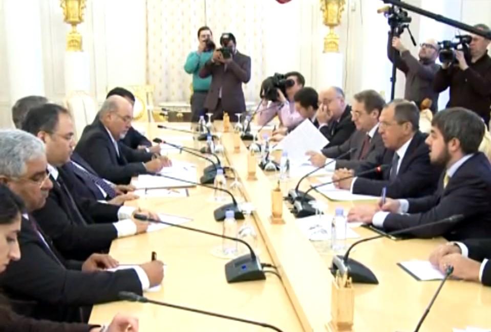 Главы МИД России и Бахрейна Сергей Лавров и Халед бен Ахмед Аль Халифа