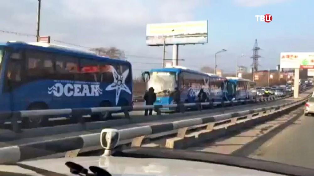 ДТП с участием автобусов