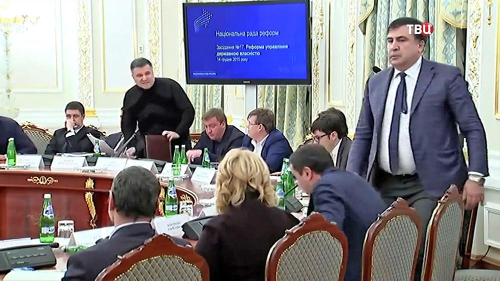 Ссора Арсена Авакова и Михаила Саакашвили