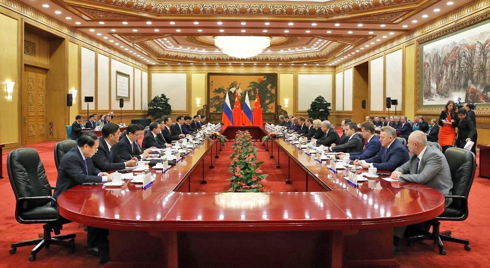 Встреча глав правительств России и Китая