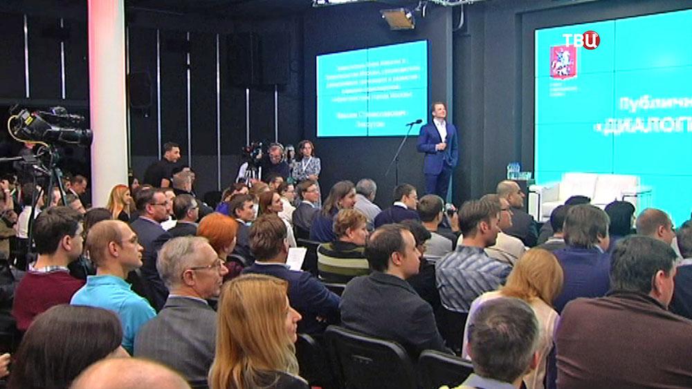 Пресс-конференция заммэра Москвы Максима Ликсутова