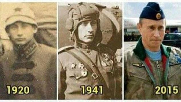Фотография, доказываются, по мнению западных СМИ, бессмертие Владимира Путина