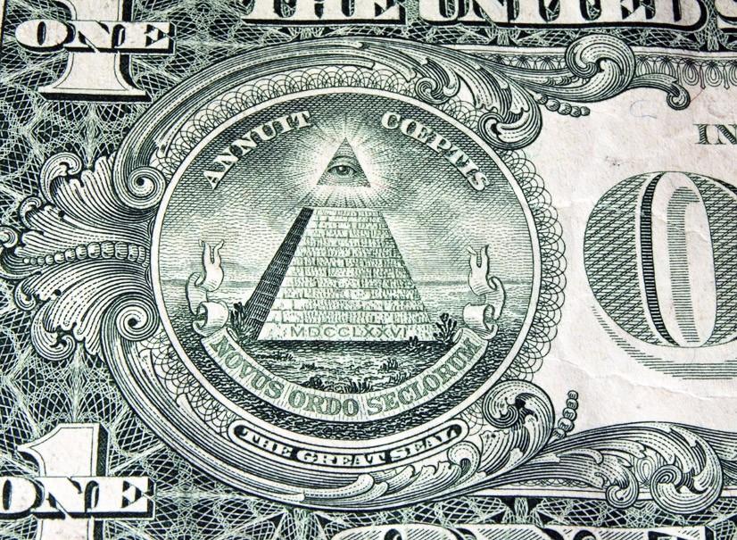 Пирамида с купюры в один доллар