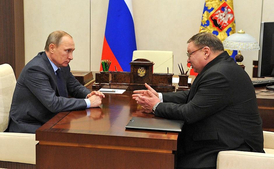 Президент России Владимир Путин и  Павел Коньков