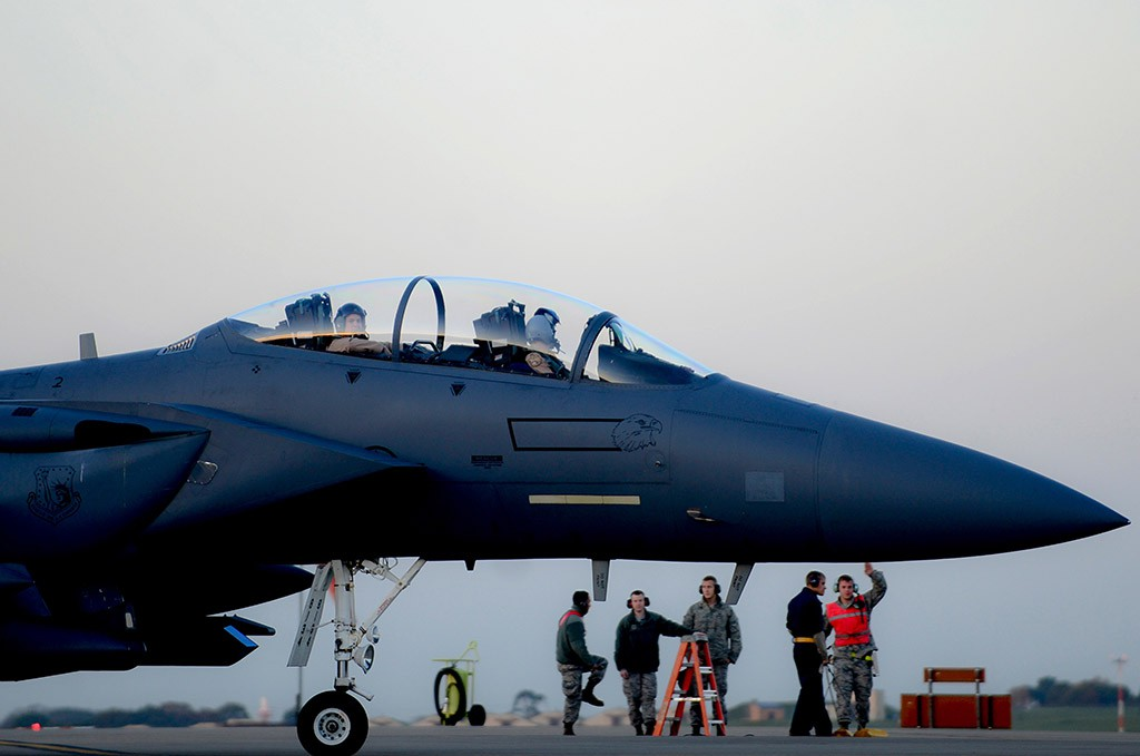 Истребитель F-15 ВВС США