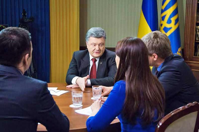 Президент Украины Пётр Порошенко на заседании