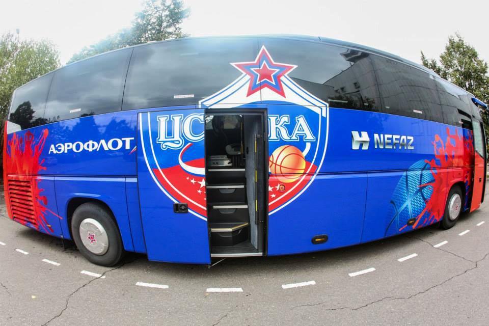 Автобус баскетбольного клуба ЦСКА
