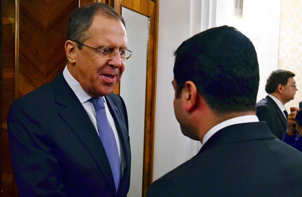 Встреча главы МИД России Сергея Лаврова с председателем турецкой ДПН Сепаратеном Демирташем