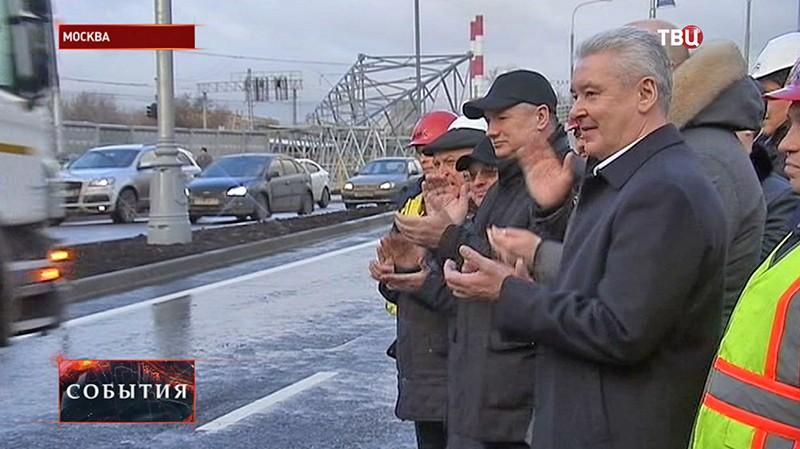 Сергей Собянин на открытии движения по тоннелю на пересечении улицы Люблинская с Волгоградским проспектом