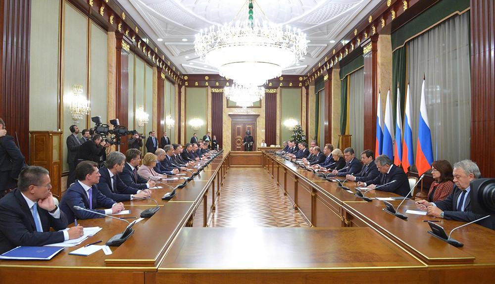 Совещания с членами правительства РФ