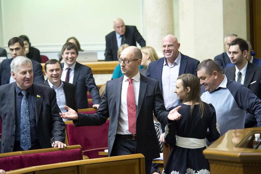 Арсений Яценюк в Верховной Раде Украины