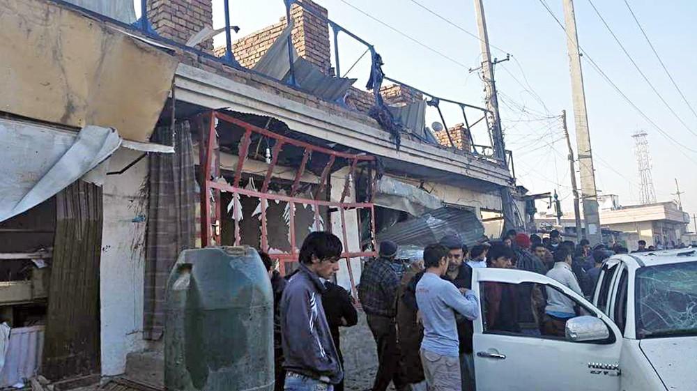 Пострадавшие при взрыве в Афганистане