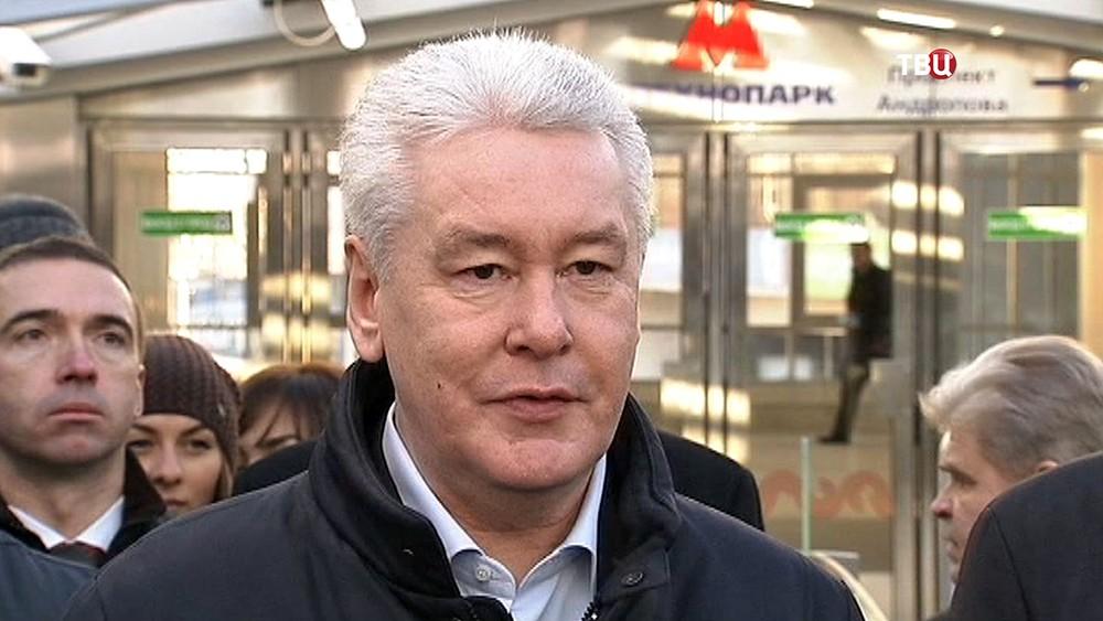 "Сергей Собянин на открытии станции метро ""Технопарк"""