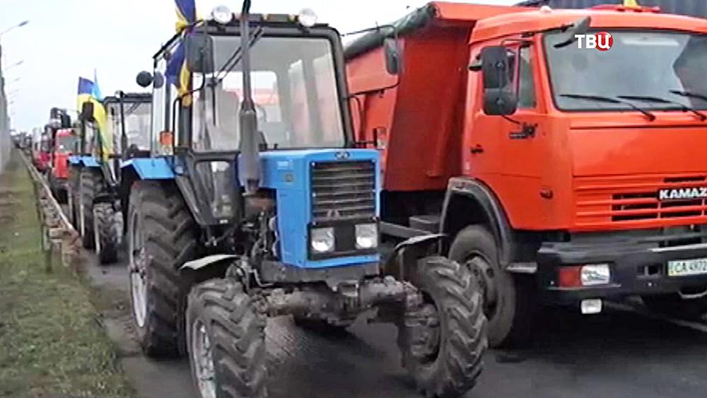 Митинг украинских аграриев