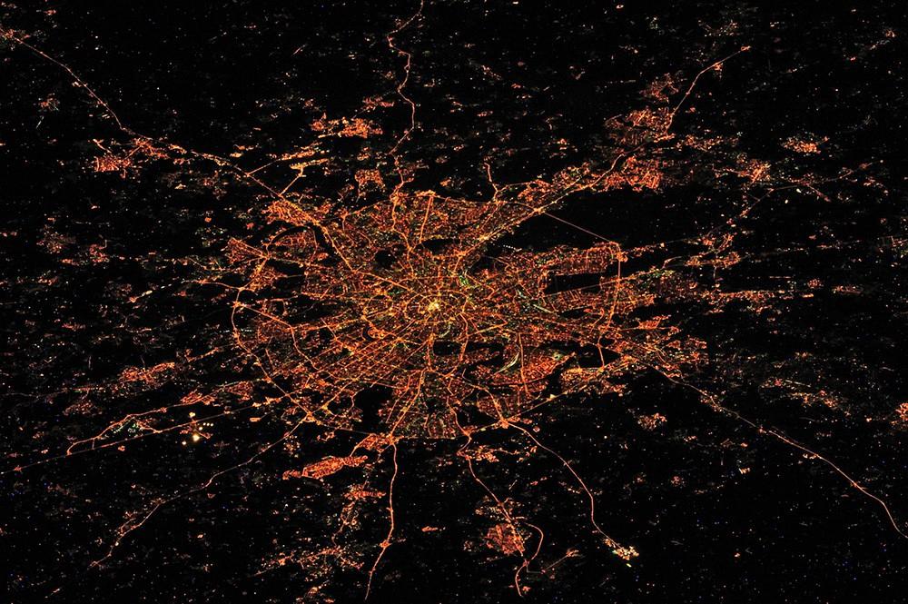 Снимок Москвы из космоса
