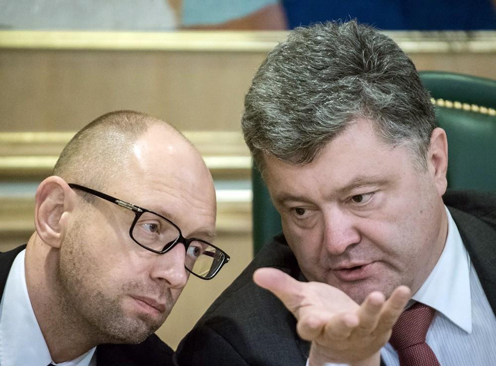 Арсений Яценюк и Пётр Порошенко