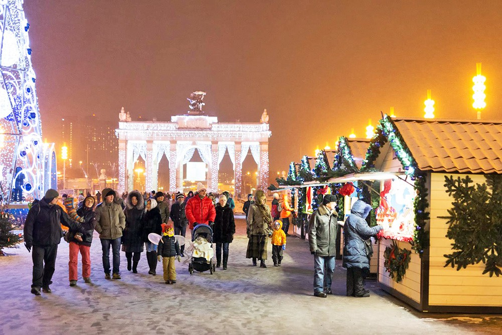 Рождественская ярмарка в Москвы