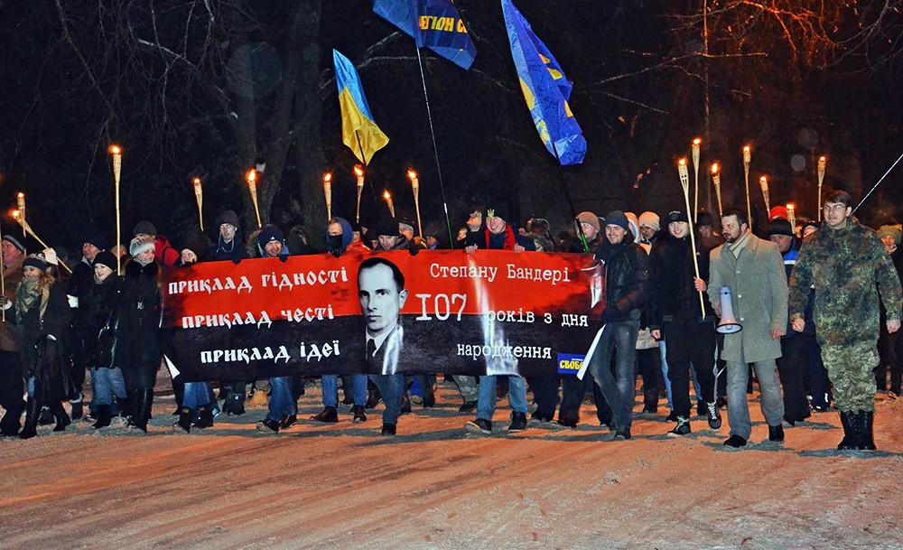 Марши националистов в день рождения Степана Бандеры