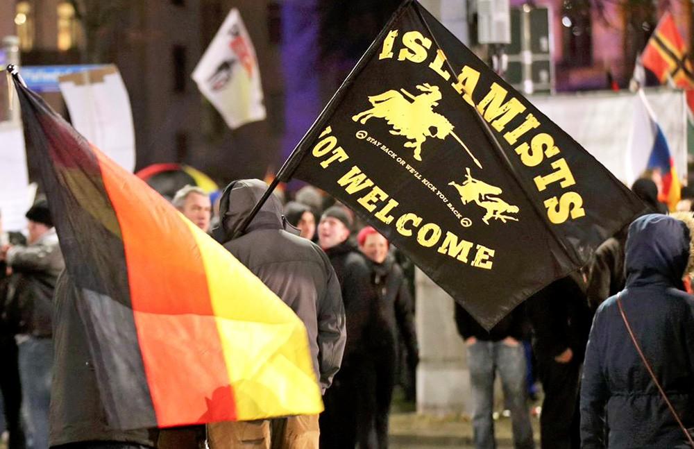 Митинг против исламистов в Германии