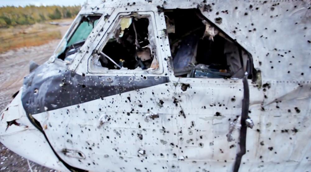 """Фюзеляж самолета Ил-86, поврежденного в ходе натурного эксперимента концерна ПВО """"Алмаз – Антей"""""""